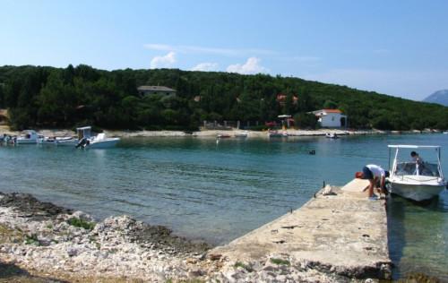 Remains of an ancient coastal complex, cove Liski