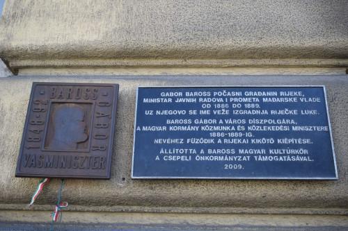Memorial plaque to Gabor Barros