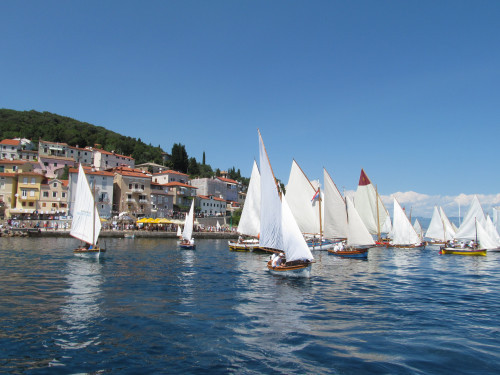 Festival and regatta of traditional sailboats