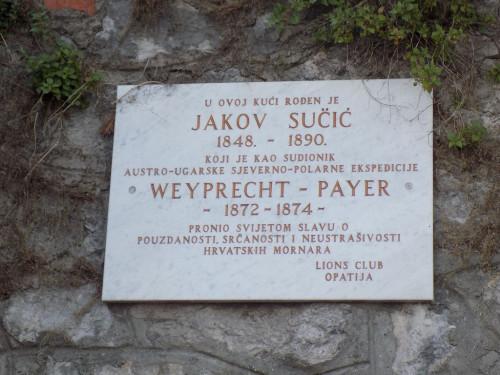 Spomen ploča za pomorca Jakova Sučića