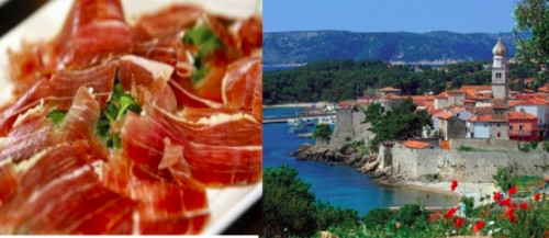 2nd Itinerary: Island – littoral gastro - maritime adventure; Shrimp, shellfish, fish, salt, prosciutto and žlahtina